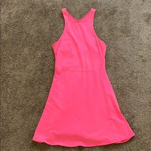 American Eagle Hot Pink Skater Dress Size XS